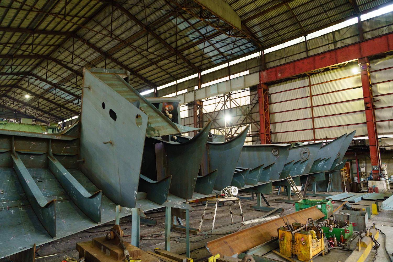 船体ブロック エンジンルーム